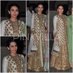 Yay or Nay : Karisma Kapoor in Manish Malhotra At Soha - Kunal Reception | PINKVILLA