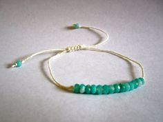 Faceted Rondelle Amazonite Stackable Beaded bracelet