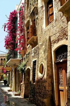 Antiga cidade de Chania, Crete, Grécia.