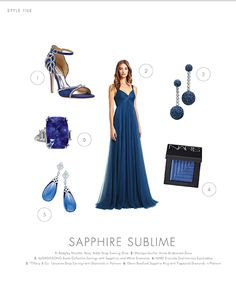 Sapphire's have a long history as a royal gemstone. This color palette is great for a bridal party wanting to be luxurious on the wedding day! #royal #sapphire #sublime #librideandgroom #bridalparty