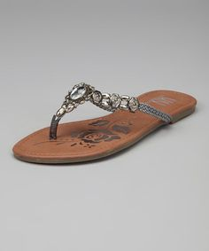 Just bought these- Pewter Beaded U-Treasure Sandal by Red Circle Footwear & Realplay on @zulily today!