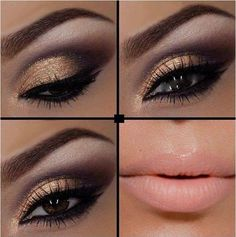 11 Makeup Tutorials For Brown Eyes...I love that lip color