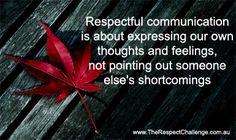 Respectful communication