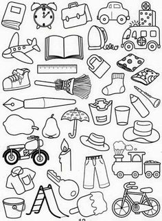 Art Drawings For Kids, Doodle Drawings, Drawing For Kids, Easy Drawings, Art For Kids, Colouring Pages, Free Coloring, Coloring Books, Easy Doodle Art
