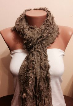 A personal favorite from my Etsy shop https://www.etsy.com/listing/179749366/solid-brownmink-fringed-scarf-knitted