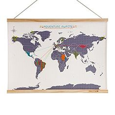 SUCK UK Map Cross Stitch Kit