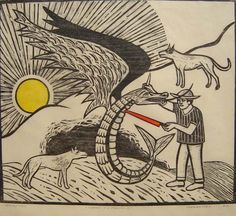 MAM - Museu de Arte Moderna: Gilvan Samico - Giovana n°09, xilographia
