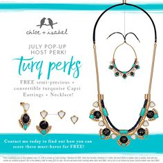 Let's do an online C+I party and get you some free jewelry! Message me here or email thejewelsloveyou@gmail.com! Great hostess perks for you!