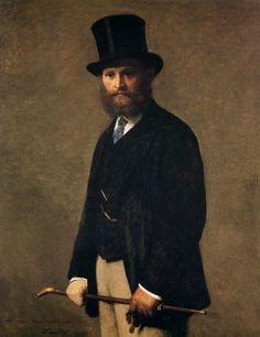 Portrait of Edouard Manet, 1867 by Henri Fantin-Latour