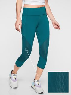 5d3ed5b91acf8 Mesh Contender Capri in Powerlift | Athleta Athletic Outfits, Yoga Leggings,  Fitness Tips,