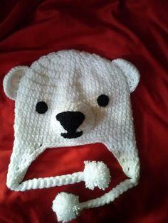 Touca de lã  Urso polar