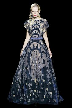 c3cc15152f3c7 Long dress in cobalt blue burnout velvet