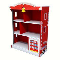 KidKraft Firehouse Bookcase