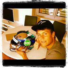 adrientambay Back with my 2013 Helmet this week end!!! #leavingtoredbullring #readytofight#byebyehome