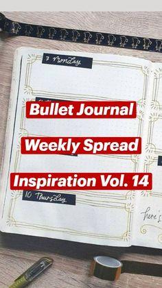 Bullet Journal Weekly Layout, Bullet Journal Set Up, Bullet Journal Writing, Bullet Journal Ideas Pages, Bullet Journal Inspiration, Journal Prompts, Book Journal, Bullet Journals, Weekly Spread
