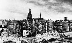 A view of the destruction in Riga, the capital of Latvia, on October 3, 1941, after the wave of war had passed over it, the Russians had withdrawn and it was in Nazi hands