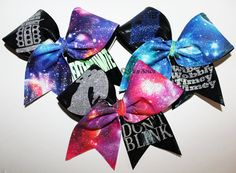 Dr. Who Set of Three Cheerleading Bows by Funbows
