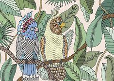 Le meilleur du Salon de Milan 2016 : Papier peint Cockatoo, collection Yarn, Elena Salmistraro (Texturae)