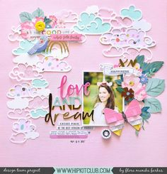 "240 Likes, 2 Comments - Hip Kit Club Scrapbooking Kits (@hipkitclub) on Instagram: ""Do you like creating pretty soft pink layouts? Designer @floramfarkas shares a gorgeous layout…"""