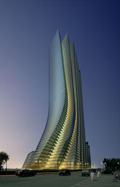 Futuristic Architecture, Empire Island Tower, Abu Dhabi designed by Aedas #architecture ☮k☮