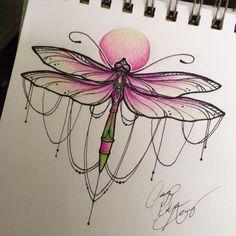 Dragonfly tattoo by ailanor.deviantart.com on @DeviantArt