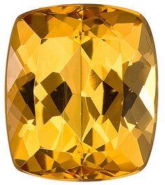 Genuine Golden Topaz Loose Gemstone, Cushion Cut, 10.5 x 9 mm, 4.94 Carats at BitCoin Gems