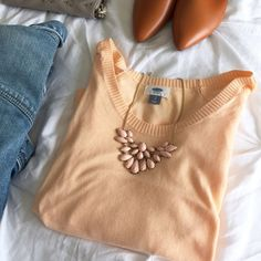 "hp. lightweight sweater. the cutest light weight sherbet orange sweater from Old Navy.  3/4"" sleeves.  flowy relaxed box type fit.  excellent condition, new without tags.  size s.  22"" from shoulder to hem, 20"" from pit to pit. Old Navy Sweaters"