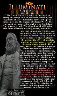 WHY THE HELL IS THERE A STATUE OF THIS PERSON IN WASHINGTON DC???  Free Mason Albert Pike...how Islam will be used by the west to bring about WW3.