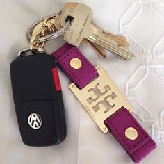 Tory Burch keychain, to match my Tory Burch belt