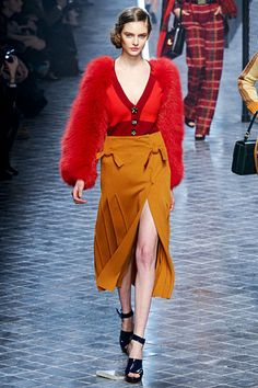 The color combo is outrageous! Sonya Rykiel Fall 2011 RTW