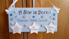 Personalised New Baby A Star Is Born Gift Plaque, Stars, Birth Details, Nursery Decor, New Baby Gift, Custom Sign