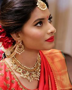 "211 likerklikk, 4 kommentarer – South Indian Bride Fashion (@southindianbridalfashion) på Instagram: ""Beautiful South Indian Bridal look Double tap for this lovely bride @afsharangila_makeupartist"""