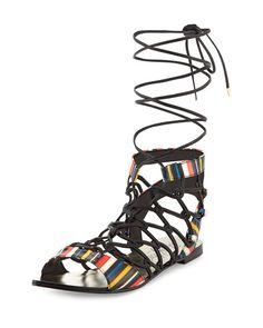 a545107ec103 Lust for Life Venom Striped Lace-Up Sandal