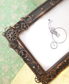 Steampunk Picture frame Steampunk photo frame by FromThePerch