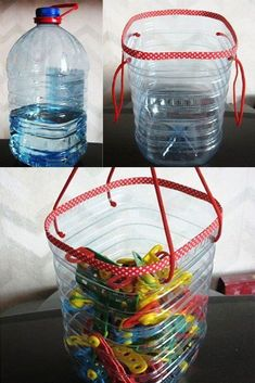 40 Cool Ways To Upcycle And Reuse Plastic Bottles Diy Projects Plastic Bottles, Uses For Plastic Bottles, Plastic Container Crafts, Recycled Bottle Crafts, Water Bottle Crafts, Recycled Crafts Kids, Recycled Glass Bottles, Plastic Bottle Crafts, Water Bottle Recycling