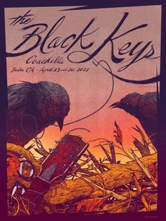 Commemorative poster for The Black Keys' first headlining performance at Coachella by Kevin Tong