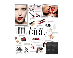 """""""What's in Your Makeup Bag?"""" by amimcqueen ❤ liked on Polyvore featuring beauty, Chanel, Guerlain, Bobbi Brown Cosmetics, Avon, Lumière, SUQQU, SELECTED and NARS Cosmetics"""