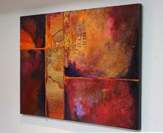 "CAROL NELSON FINE ART BLOG: Mixed Media Abstract Painting, ""Ticket to Ride"" © Carol Nelson Fine Art"