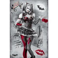 "Poster verticale ""Arkham Knight - Harley Quinn"" di #Batman. Dimensioni: 61 x 91,5 cm."