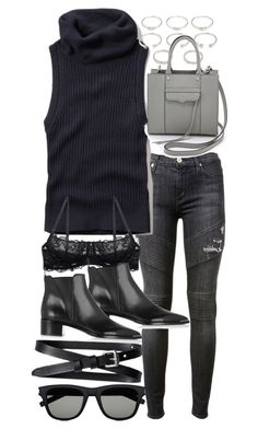 """""""Untitled #18724"""" by florencia95 ❤ liked on Polyvore featuring Hudson, Abercrombie & Fitch, Forever 21, Rebecca Minkoff, Acne Studios, Banana Republic and Yves Saint Laurent"""