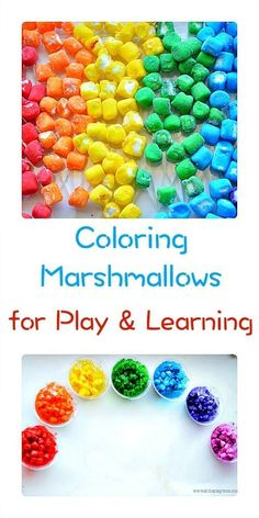 How to color marshmallows and use them for playing, creating and learning