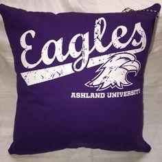 A personal favorite from my Etsy shop https://www.etsy.com/listing/477630222/ashland-ohio-university-tshirt-pillow