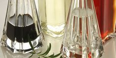 Vinegars ((to season salads we use: white (alcohol) vinegar, wine vinegar, apple cider vinegar or vinegars with additon of aromatic or medicinal herbs, we also like to buy occasionally balsamic vinegar of Modena