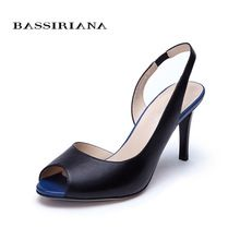 US $129.00 High thin heels Sandals for Woman Basic model Genuine leather Casual 35-40size Sandals women Peep toe Free shipping BASSIRIANA. Aliexpress product