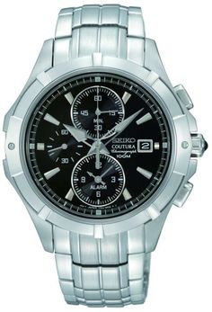 Seiko Gents Coutura SNAE73P1 £137 alarm battery 2yr guarantee