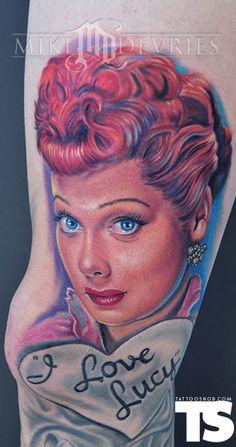 This makes my brain turn to mush.  Tattoo by Mike Devries at MD Tattoo Studio in Northridge, CA