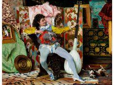 "DER BARDE Öl auf Leinwand. 24 x 31 cm. Links unten signiert ""F. Vinea"". Ausstellungen: Poesia d'interni. Angoli di vita nell'arte dell'800 italiana,..."
