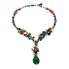 330f69e3553c CHANEL pendant necklace made by Maison Gripoix, France. End of  30ies.  Wonderful
