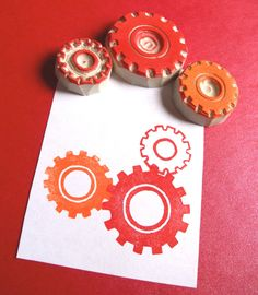 Get in Gear Pattern Stamp Set