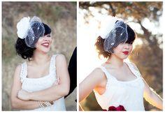 INSPIRACJE ŚLUBNE: woalka i czerwone usta do ślubu....